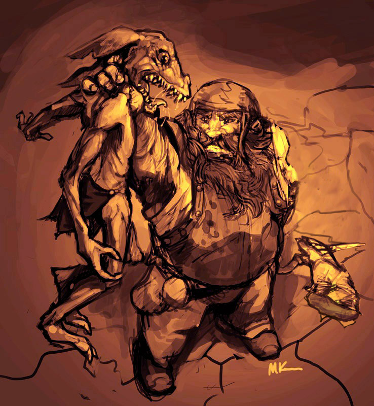 Dwarf_vs_Kobold_by_MK01 modified
